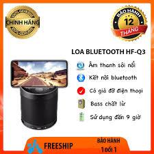Loa bluetooth HF-Q3 chất lượng âm thanh cực hay âm bass phát to rõ đậm loa  không dây cầm tay có giá đỡ điện thoại tại TP. Hồ Chí Minh