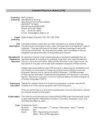 Job Description For Nurses Resume Licensed Practical Nurse Resume Sample Template Samples Lpn Free 80