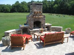 outdoor fireplace with pit