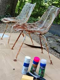 how to paint metal chairs you ll need safety gl and a mask
