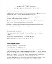 Auto Mechanic Resume Templates Mechanic Resume Template 6 Free Word Pdf Document Downloads