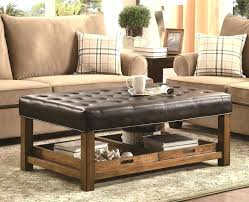 leather ottoman coffee table home brown distressed leather wrapped coffee table within distressed leather ottoman intended
