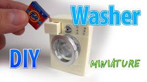 Miniature Washing Machine Diy Realistic Miniature Washer Dollhouse No Polymer Clay