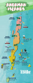 your andaman tour in one map  andaman tourism  conde nast