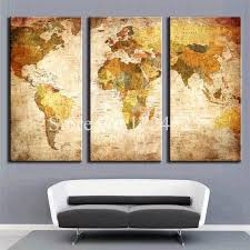 Small Picture Aliexpresscom Buy Framless Modern World Map Home Decoration Oil