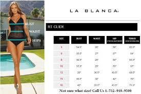 La Blanca Size Chart Swimsuits Size Chart One Piece