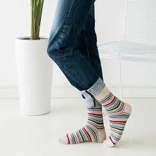 <b>Autumn Winter Mens Socks</b> Classic Striped Business Dress Socks ...