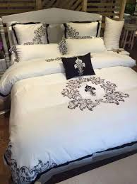 incredible luxury hotel bedding 100 cotton bedsheet 5 star set full size bed queen king duvet cover white color linen damask comforter collection australium