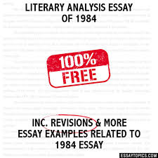 analysis essay of  literary analysis essay of 1984