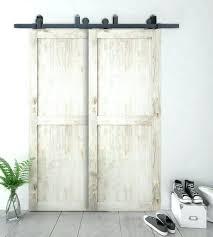 double glass barn doors. Double Glass Barn Doors Bypass Sliding Wood Door Hardware Top Mount Rustic .