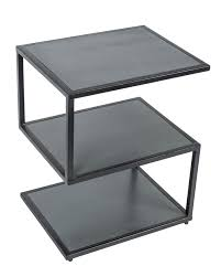 S Shaped Coffee Table Modern Dakota S Shape Side Table Dark Grey Painted Solid Mango