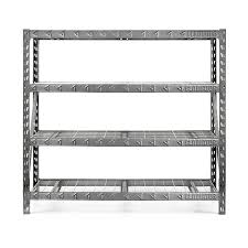 metal storage shelves. gladiator 72-in h x 77-in w 24-in d steel metal storage shelves