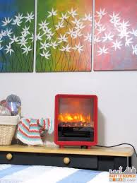 red electric fireplace by crane