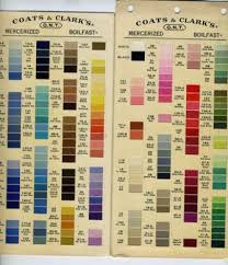 Coats And Clark Thread Chart 55 Complete Coats Clark Embroidery Thread Conversion Chart