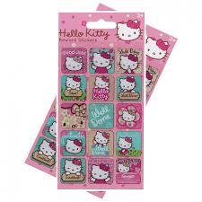 Hello Kitty Reward Chart Free Hello Kitty Re Usable Large Reward Stickers 2 Packs