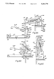 patent us5261779 dual hydraulic parallelogram arm wheelchair patent drawing