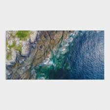 wall art for home office. Aerial Shoreline Canvas Wall Art For Home Office O