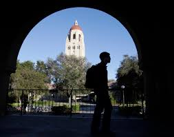 stanford students discover how to access their admission records a stanford university student walks in front of hoover tower on the stanford university campus in