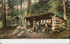 camping in the woods. Brilliant Woods A Turnofthecentury Postcard Shows An  In Camping The Woods