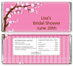 Cherry Blossom Bridal Shower Candy Bar Wrappers | Candles & Favors