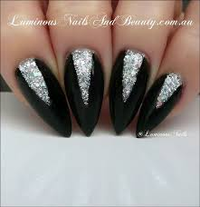 Pin by Aaliyah Tate on high school outfits | Silver nails, Luminous nails,  Black silver nails