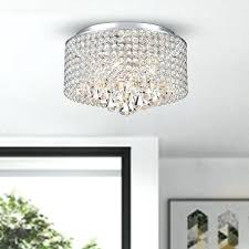 4 light chrome and crystal drum shade flush mount chandelier wall mounted outdoor lights