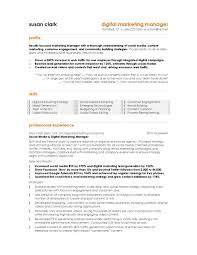Marketing Resume Example Best Toreto Co Digital Manager Page