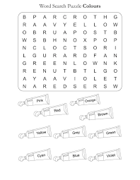 Word Search Puzzle Colors | Download Free Word Search Puzzle ...
