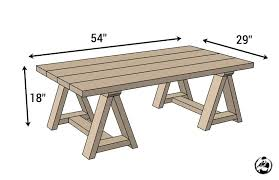coffee table building plans sawhorse coffee table plans dimensions lift up top coffee table woodworking plan