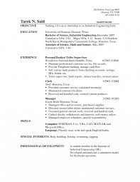 Bank Tellerume Objectives Writing Sample Pdf Cover Letter How To