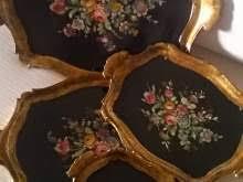 Vassoi In Legno Fiorentini : Vassoio legno dipinto arredamento mobili e accessori per la