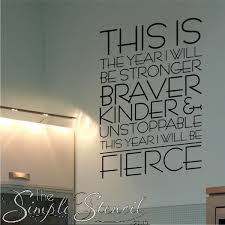 this year i will be fierce wall quote on motivational wall art for home with inspirational wall quotes inspiring wall art decals simple stencils