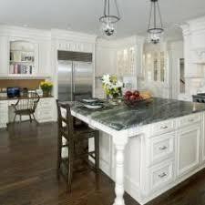 White Cottage Kitchen With Desk Area