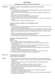 Telephone Sales Representative Resume Samples Internal Sales Representative Resume Samples Velvet Jobs