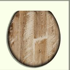 Toilet Seat with Chic White Washed Reclaimed Wood design