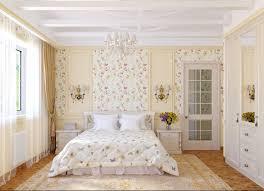 Kamerontwerp Gecombineerd Behang In Slaapkamer Foto Een Interieur