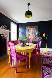 Colorful Dining Room Tables Unique Design