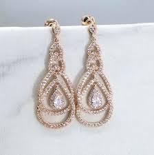 rose gold chandelier earrings rose gold earring bridesmaid rose gold chandelier earrings bridal drop earrings bridesmaid rose gold chandelier earrings