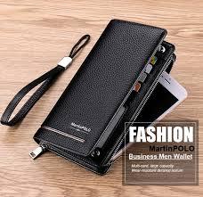 <b>MartinPOLO Men</b> Genuine Leather Wallets Long Card Holder Male ...