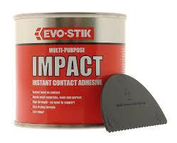evo stik ml impact multi purpose instant contact adhesive in evo stik 250ml impact multi purpose instant contact adhesive in tin 348103 amazon co uk diy tools