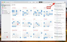 View Calandar How To View All Events As A List In Your Macs Calendar App Macrumors