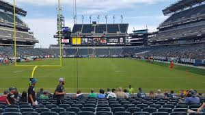 Philadelphia Eagles Seating Chart Lincoln Financial Field Section 111 Philadelphia Eagles