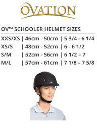 Ovation Helmet Size Chart English Riding Supply Inc English Riding Supply Ovation Deluxe Schooler Helmet