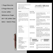 Reference Pages For Resume Teacher Resume Template With Cover Letter And Reference Page Instant Download