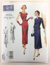 Vogue Pattern Beauteous Vogue 48 48s Vintage Dress Vintage Vogue Sewing Pattern V48