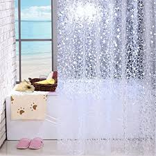 hmhesq shower curtains curtain synthetic fiber shower curtain oval pattern waterproof mildew resistant environmental protection transpa thickening 100