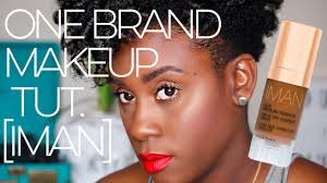 one brand makeup tutorial for dark oily skin using iman cosmetics b o m b makeup challenge