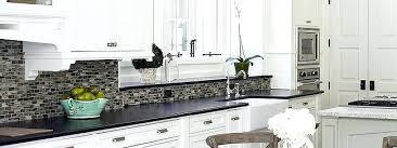 black and white tile kitchen backsplash black granite white cabinet glass tile idea black and white black and white tile kitchen backsplash