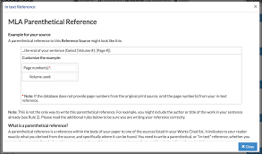 Mla Cite In Text How To Create Parenthetical In Text References Noodletools Help Desk