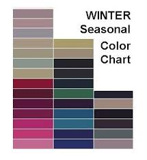 Seasonal Color Chart Color Pallet For Winter Photos Here Is An Example Of A